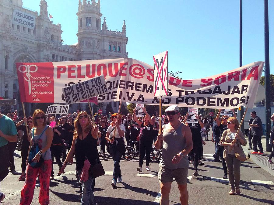 La Asociación de Peluquerías de Soria se suma a la Concentración Nacional en Madrid contra la subida del IVA
